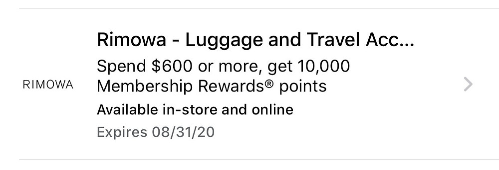 I received a targeted offer through American Express Offers for 10,000 additional Membership Rewards points after spending $600 or more.