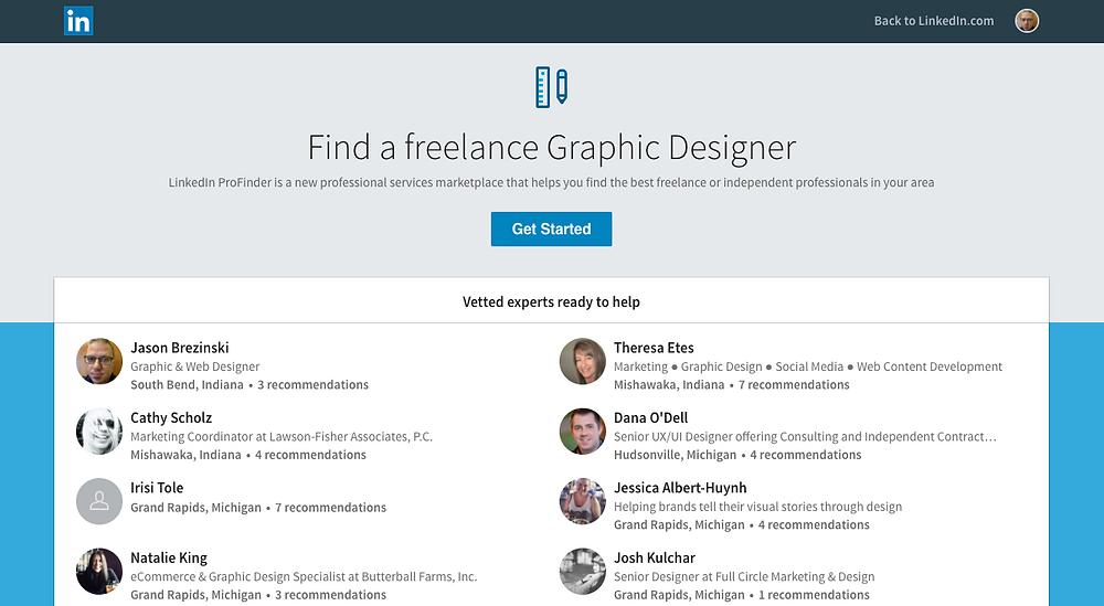 LinkedIn Designer List