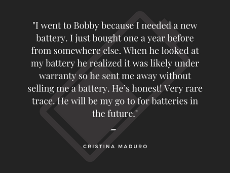 Thank You Cristina Maduro!