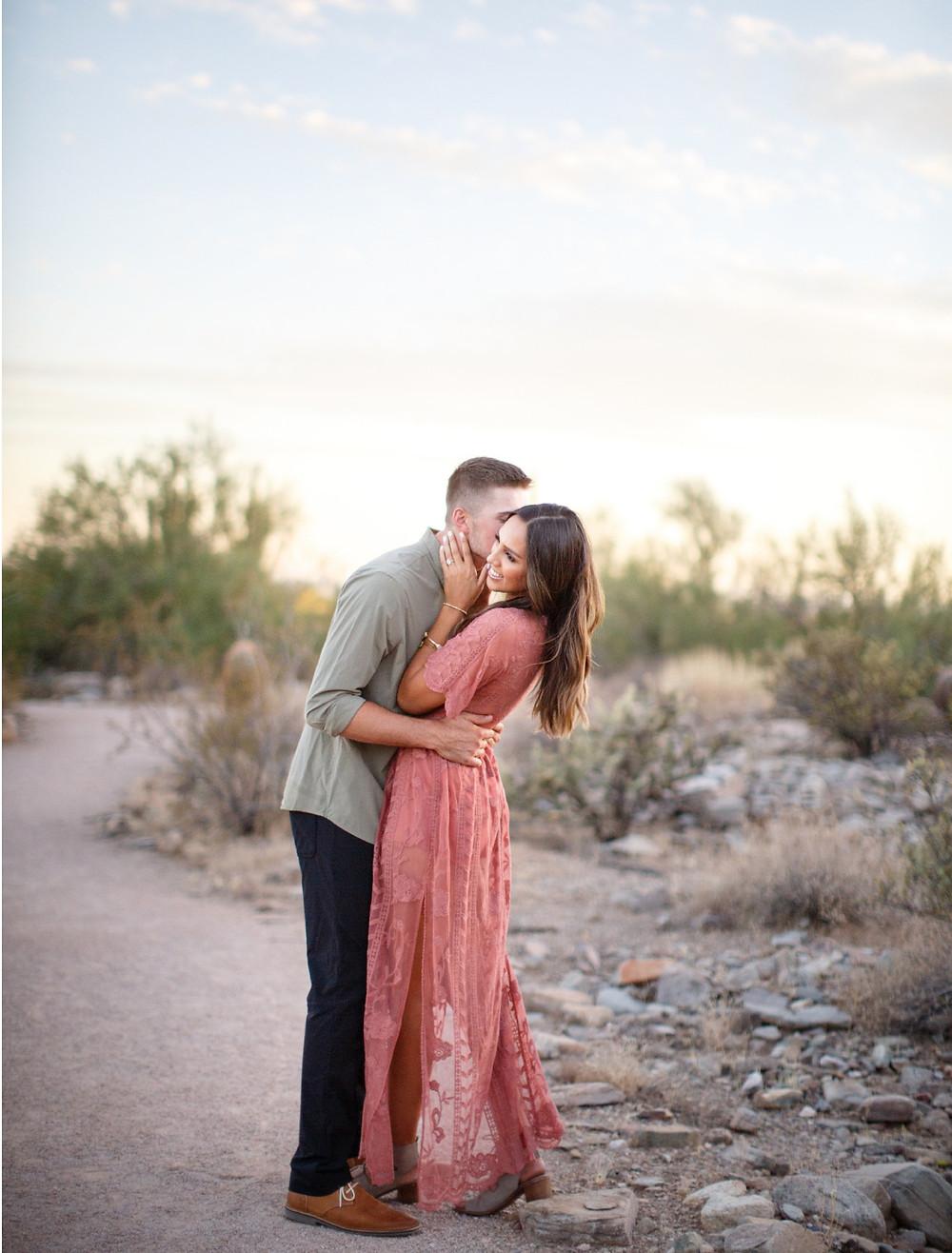 desert engagement photo scottsdale