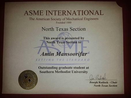 Amin Mansoorifar elected as outstanding graduate student
