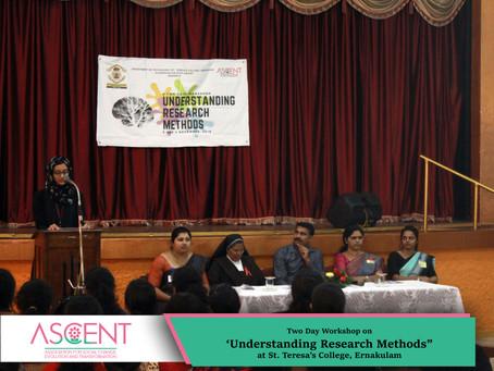 Research Methodology Workshop at St. Teresa's College, Ernakulam