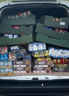 Almost 10,000 kg of food donated to our local food banks!