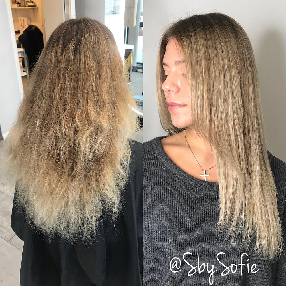 frissigt hår olja