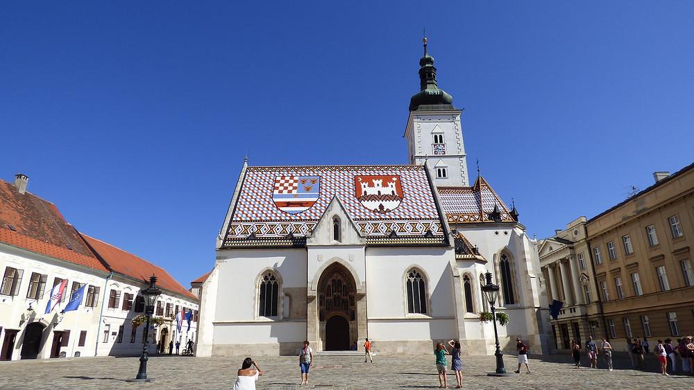 Igreja de São Marcos em Zagreb - pontos turísticos da Croácia