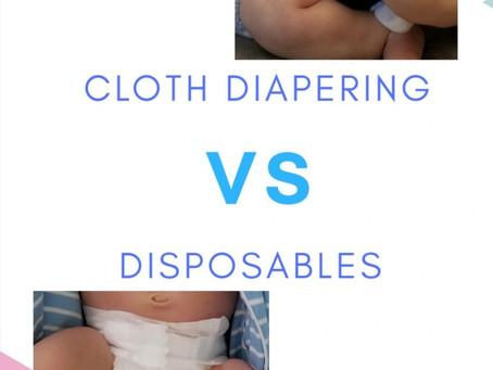 Cloth Diapering vs. Disposables