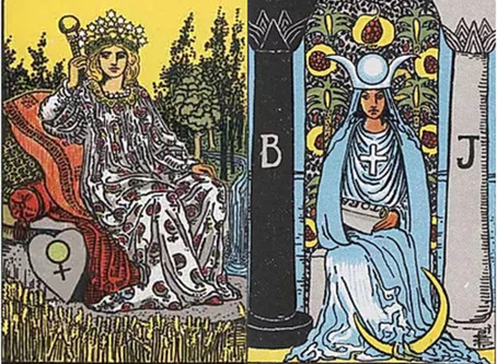 Tarot Cards Combinations: The Empress and High Priestess