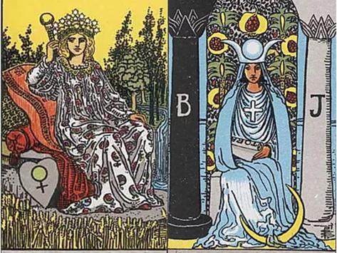 Tarot Cards Combinations: The Empress and High Priestess