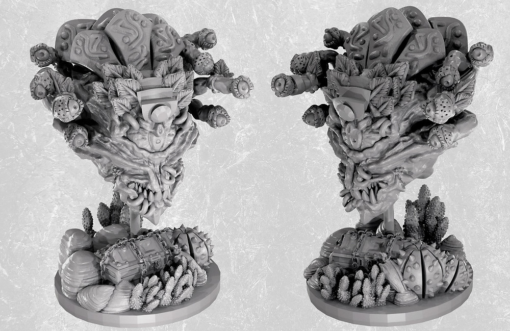 Aztec Eye Beast Miniature for D&D (based on the iconic Beholder from Dungeons and Dragons)