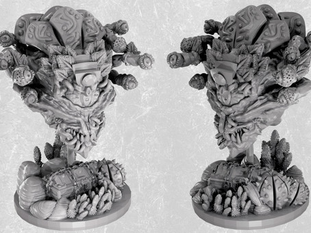 From Aztec Pyramid, Siege Triceratops to demonic vines - Minis and Terrain in May from Mystic Pigeon