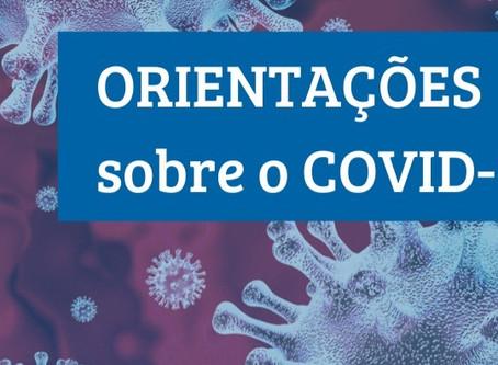 Orientações de atendimento diante do novo coronavírus