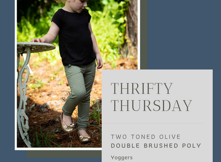 Thrifty Thursday: Two-tone olive DBP for Petite Stitchery Yoggers