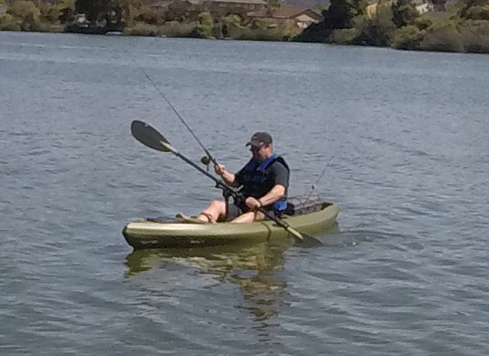 Kayak Angling with Gamut Paddle Holder