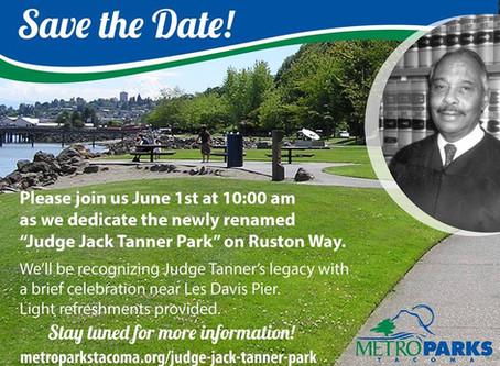 Judge Tanner Park Dedication