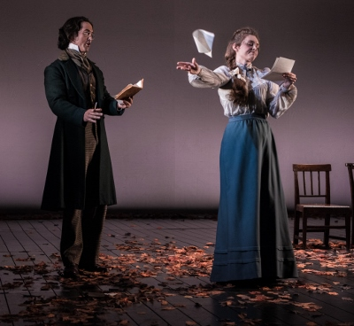 David Webb (Lensky) and Angharad Lyddon (Olga) in Buxton International Festival's production of Tchaikovsky's Eugene Onegin c. Genevieve Girling