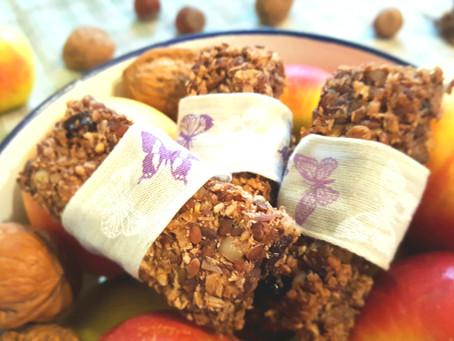 Nussig-fruchtige Müsliriegel 🌰🍏