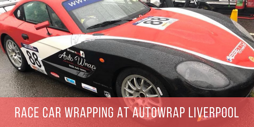 Image of a Ginetta G40 Race Car Vinyl Wrapped at Autowrap Centre Liverpool