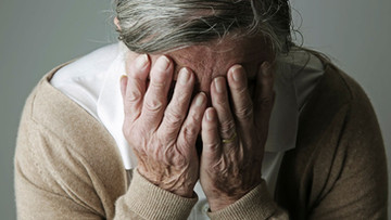 I watched an elderly woman cry