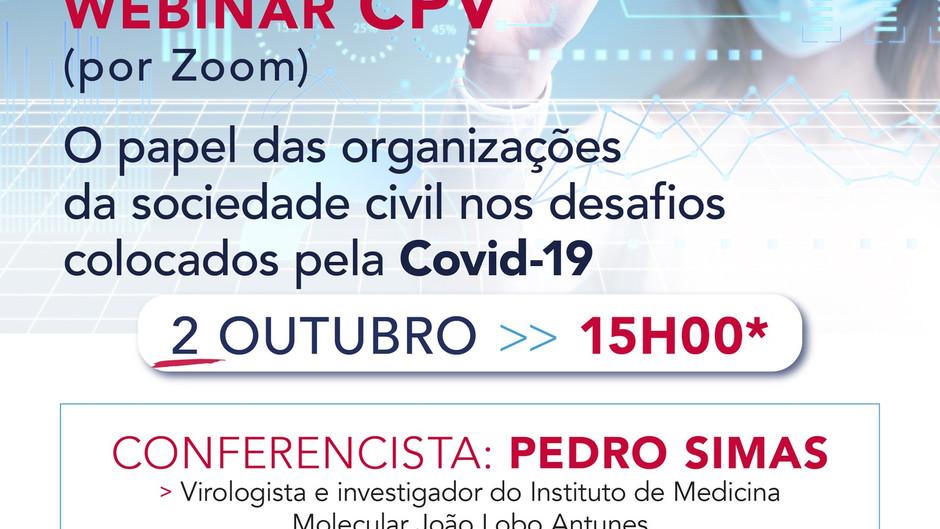Webinar: O papel das organizações da sociedade civil nos desafios colocados pela covid-19