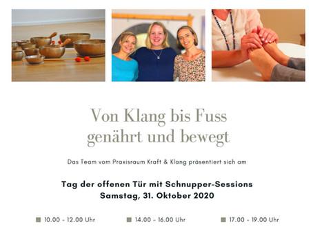 Tag der offenen Tür der Praxisgemeinschaft Kraft & Klang am 31. Oktober 2020