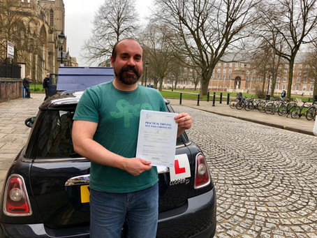 Congratulations Dave on an amazing First Time Driving Test Pass with ZERO minor driving faults!