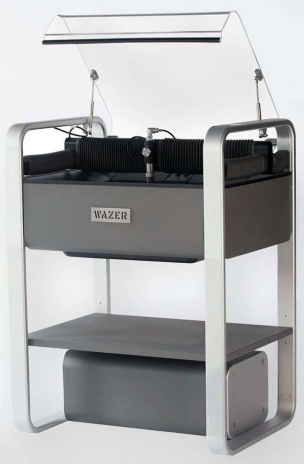 WAZER compact waterjet cutter, main unit, pump box