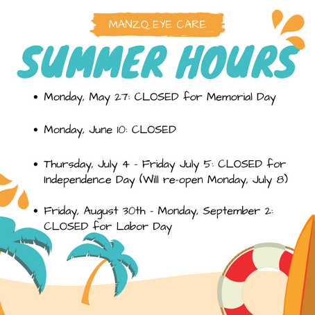 Summer Hours!