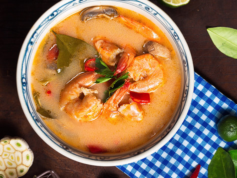 Asiatisk Tom yum-suppe