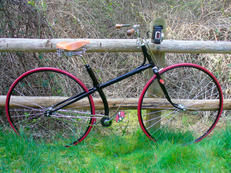 Building an 1880s cross-frame hard-tire safety for a TV series