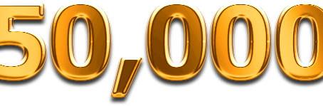 50,000 Blog Visits / Visite !!!