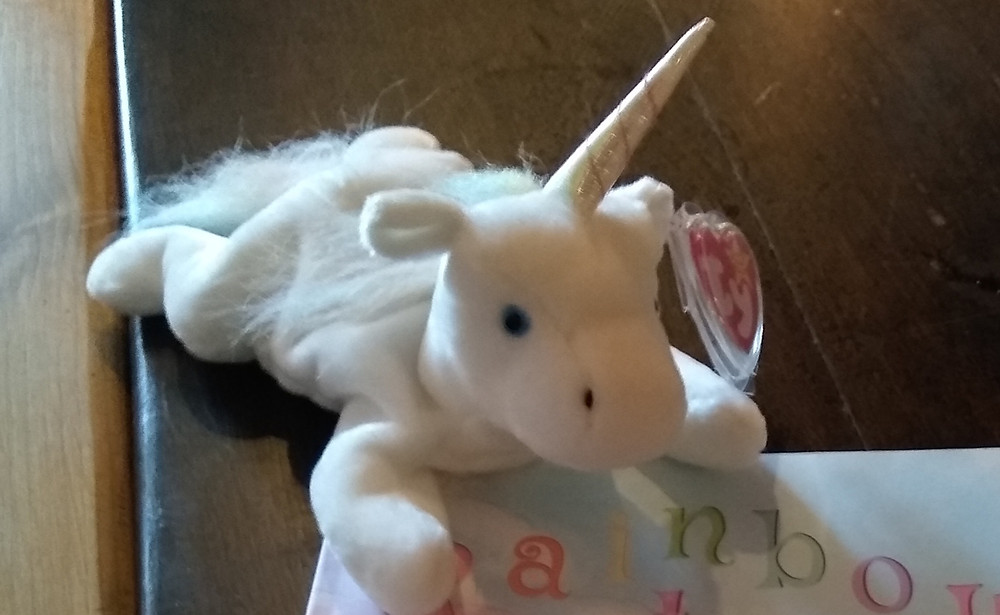 Beanie baby unicorn toy