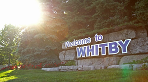 Town of Whitby sign