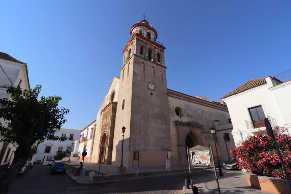 Church of Our Lady of the O from the outside in Sanlucar de Barrameda, Cadiz, Spain