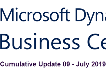 Cumulative Update 09 for Microsoft Dynamics 365 Business Central on-premises