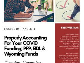 Accounting For COVID Funding FREE Webinar 11/17- Sign Up