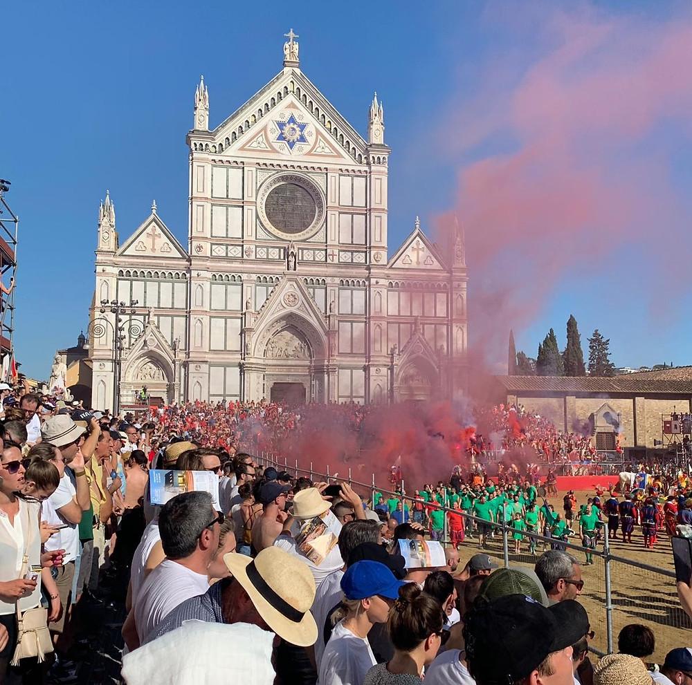 Болельщики. Традиционный Флорентийский футбол