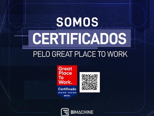 BIMachine é certificada pelo Great Place to Work