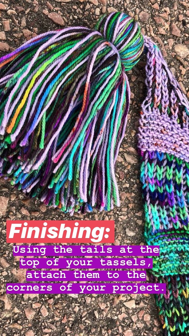Step by Step Tassels Tutorial Finishing
