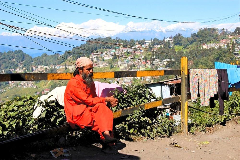 Prendre le train Darjeeling, Inde