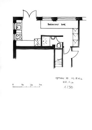 Parkway Kitchen Floor Plan Sketch