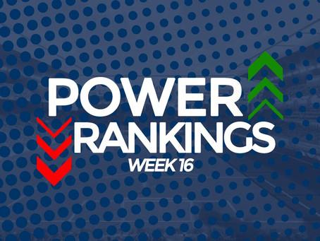 Week 16 Power Rankings