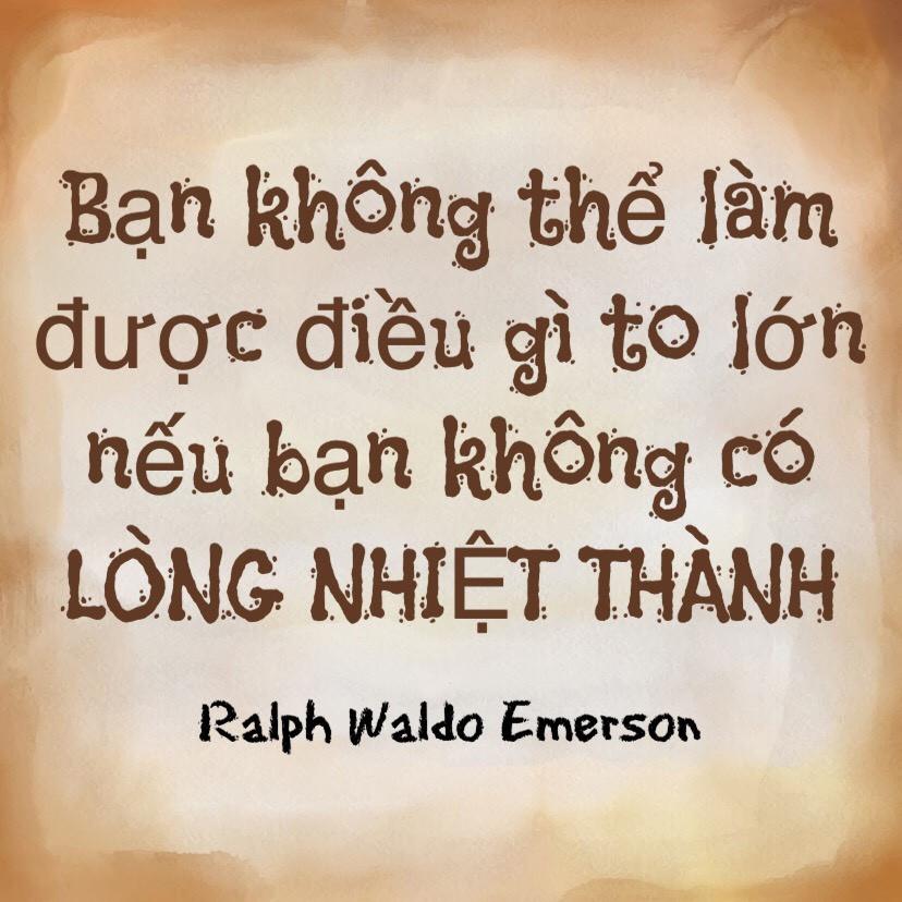 Lòng nhiệt thành Ralph Waldo Emerson
