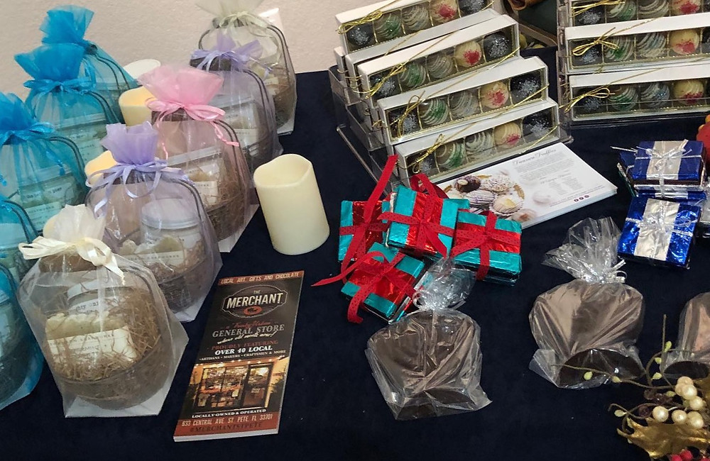 chocolate and soaps for Christmas
