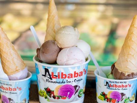 Thưởng thức món kem alibaba nổi tiếng tại Vũng Tàu