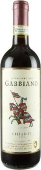 Current day bottle of Gabbiano Chianti