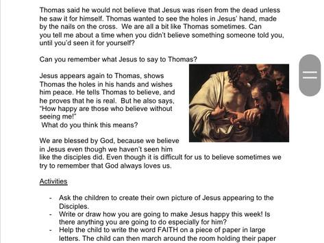 Second Sunday of Easter: Children's Liturgy part 2