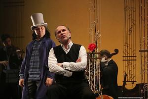 Николай Дорожкин и Алексей Гуськов в спектакле «Онегин-блюз»