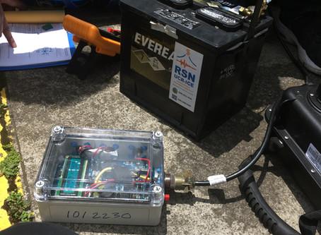 Post Receiving Seismometers