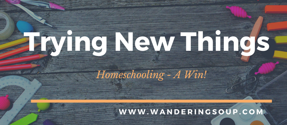 Trying New Things | Wandering Soup