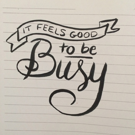 It feels good to be busy!!